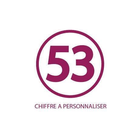 Sticker Chiffre Personnalisable