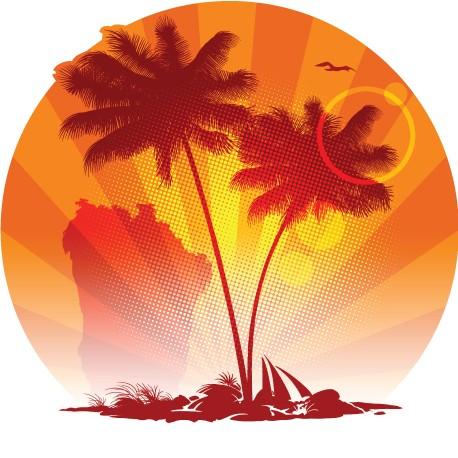 """Sticker """"Ile tropicale"""""""